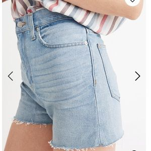 NWT Madewell perfect vintage short in bowman wash